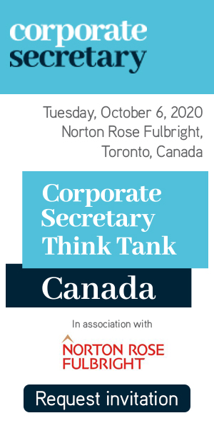 Corporate Secretary Think Tank – Canada