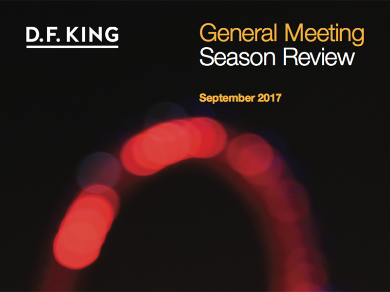 D.F King's General Meeting Season Review