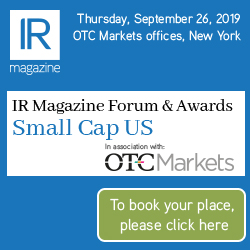 IR Magazine Forum & Awards – Small Cap US 2019 – book your seats!