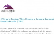 4 Things to Consider When Choosing a Company-Sponsored Research Provider (CSRP)